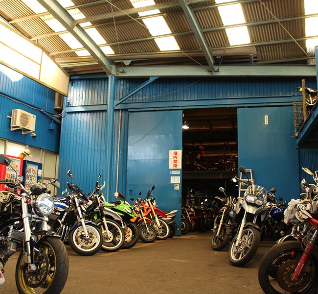 キンキオートバイ室内倉庫