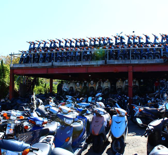 キンキオートバイ屋外在庫